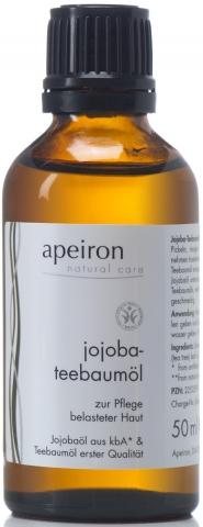 Jojoba-Teebaumöl - Pflegeöl für belastete Haut, auch zur Massage o. als Badezusatz