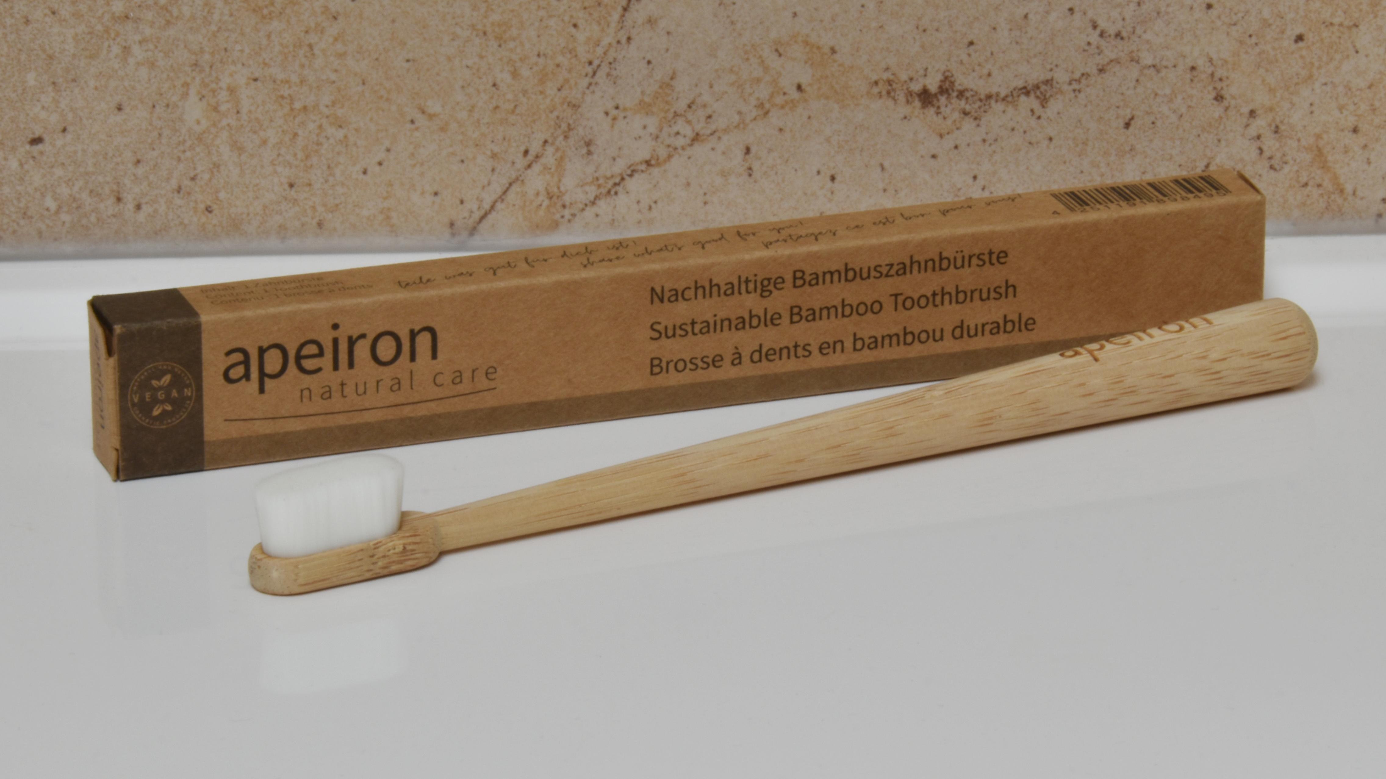 Apeiron FINIDENT Bambus-Zahnbürste, weiß